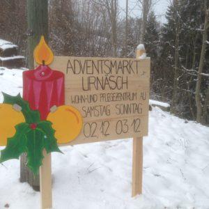 Der Rosenhügel am Adventsmarkt